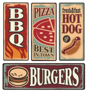 http://www.dreamstime.com/royalty-free-stock-image-retro-fast-food-tin-signs-vintage-metal-collection-pizza-burger-hot-dog-barbecue-delicious-backgrounds-image31755076