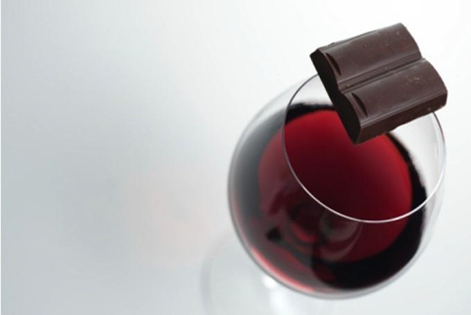 dark chocolate red wine