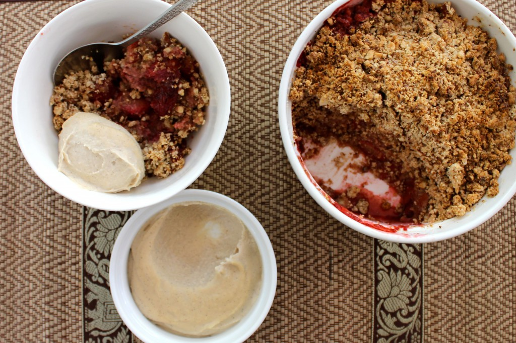 Strawberry & Almond Crumble with Cashew Cream