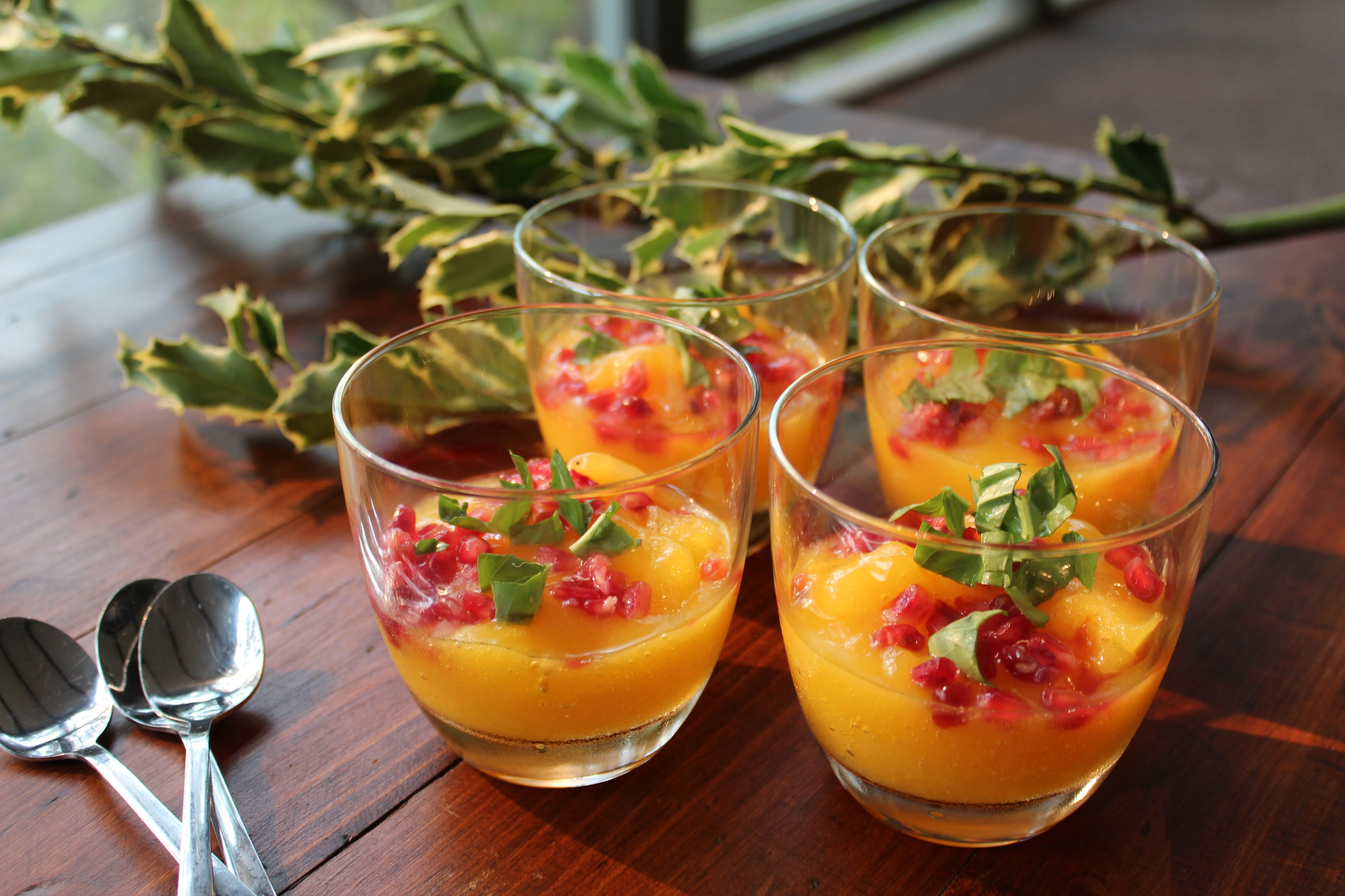 Mango & Lime Sorbet with Pomegranate & Basil - Natural Health Forever