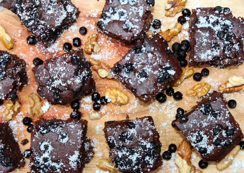 Wild Blueberry Brownies
