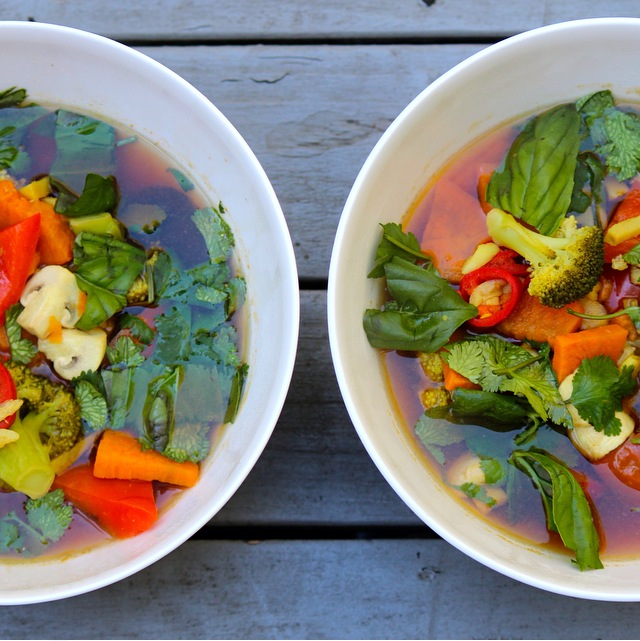 Veggie Tom Yum Soup