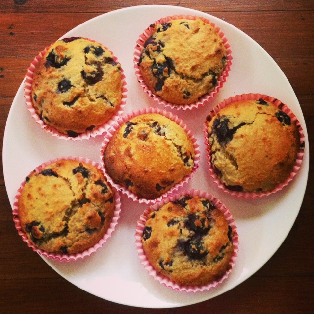 Hazelnut Blueberry Muffins