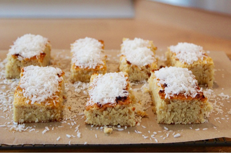 Lemon and coconut slices