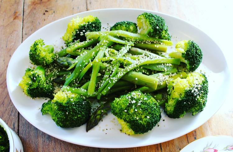 Broccoli, beans, asparagus