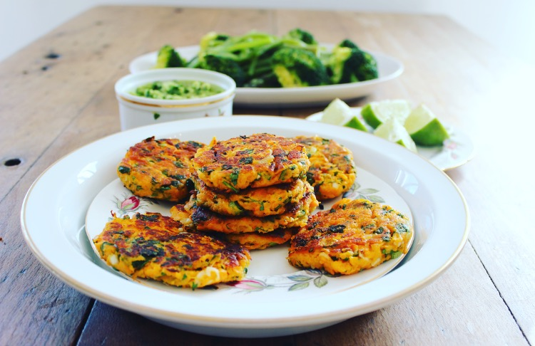 Sweet potato and millet burgers