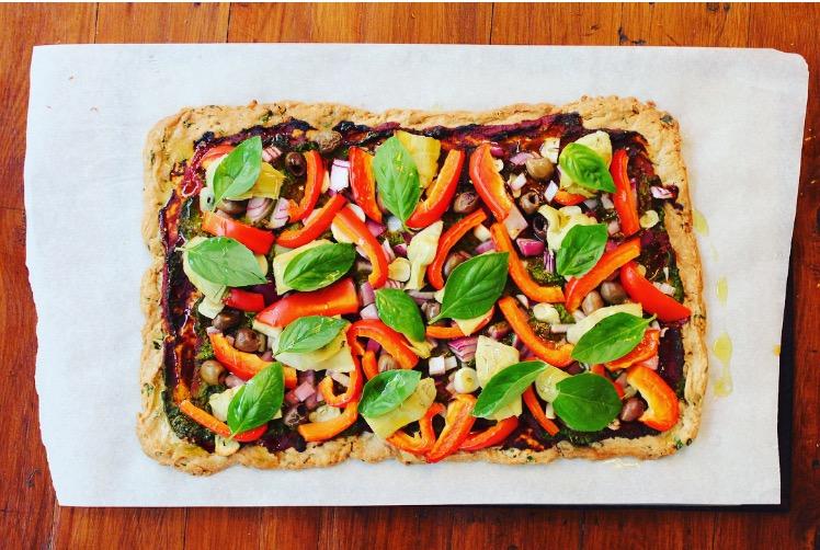 Herbed Buckwheat Pizza